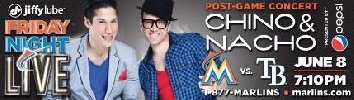 Marlins Vs. Rays + Concierto Chino y Nac